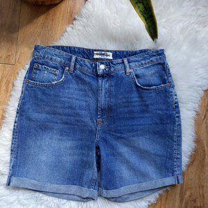 NWOT We the Free Long Denim  Jeans Shorts Cuffed